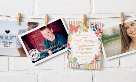 "40, 75, or 110 Custom 5""x7"" Flat Cards, Invitations, or Announcements with Envelopes from $24.99–$44.99 from Zazzle"