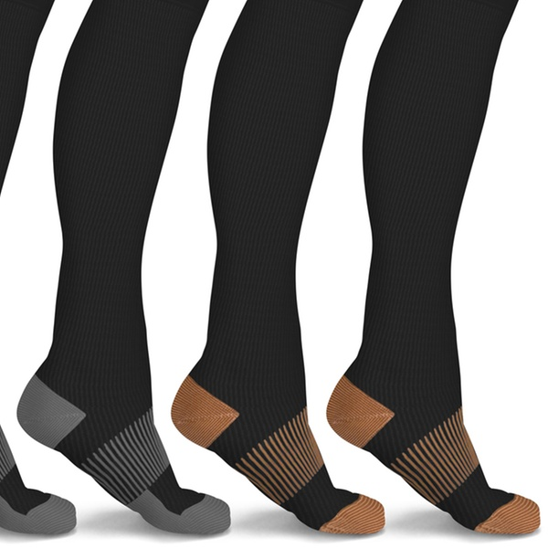 06825df1c xFit Solid Copper-Infused Knee-High Compression Socks (6 Pairs)