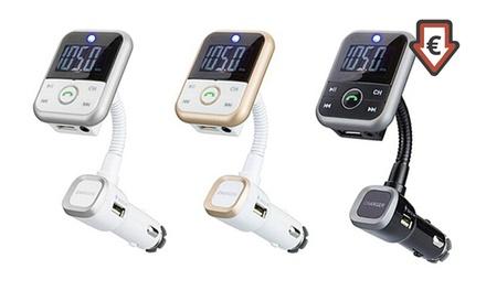 Kit mains-libres voiture sans fil transmetteur musique,écran LED, USB, lecteur carte dès 19,99€ (jusqu'à 53% de remise)
