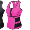 Black or Pink Slimming Thermal Hot Vest with Belt in Small to XXXL