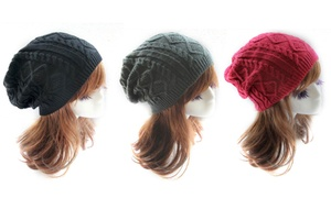 Women's Knitted Wool-Cotton Slouch Hat