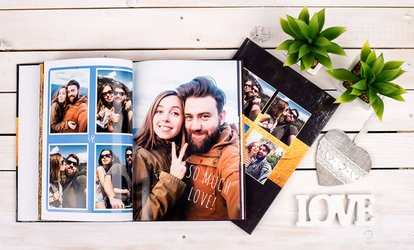 One or Two 100- or 140-Page Personalised A4 Hardcover Photobooks from Colorland (Up to 86% Off)