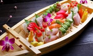 Sushi Yummy: Menu giapponese con antipasto, barca di sushi da 40 pezzi misti e birra media per 2, 4 o 6 persone da Sushi Yummy