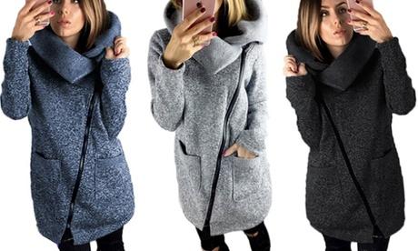 1 o 2 chaquetas de punto grueso con cierre diagonal