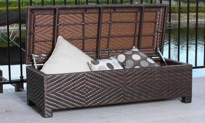 Santa Cruz Outdoor Storage Ottoman - Santa Cruz Outdoor Ottoman Groupon Goods