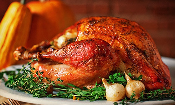 Running Wild Catering - Wilshire Ridge: $99 for a Turkey Dinner for Six to Eight with Ham, Potatoes, Dressing, and Pie from Running Wild Catering ($198 Value)