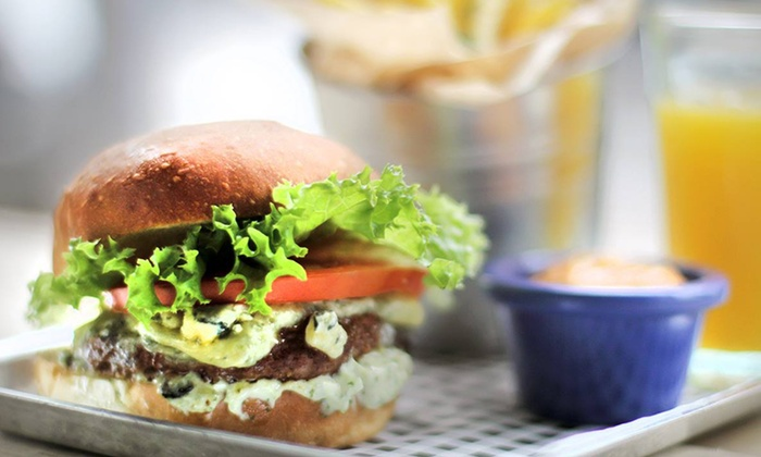 On the Pigs Back Eatery - Dublin: Burger with Chips for Two or Four at On the Pigs Back Eatery (Up to 24% Off)