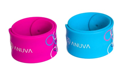 Two, Four or Six MicroEncapsulated MosquitoRepellent SnapandRelease Silicone Wristbands