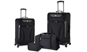 Travelers Club Expandable Spinner Luggage Set (4-Piece)