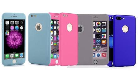 Funda protectora de cuerpo entero con protector de pantalla de vidrio templado para iPhone 8 y 8 Plus