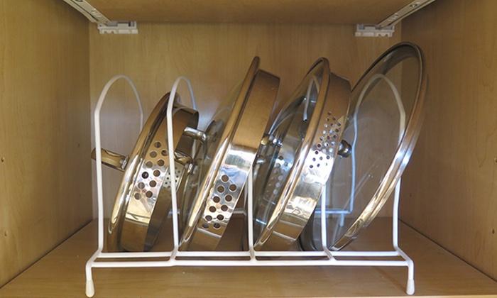 Evelots Metal Pot Lid Storage Rack: Evelots Metal Pot Lid Storage Rack ...