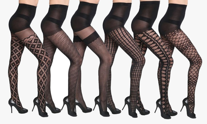26274c691ff Isadora Women s Textured Fashion Footed Pantyhose (3-Pack)