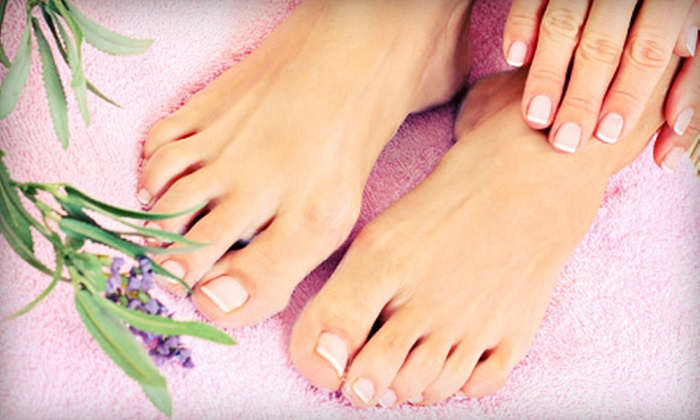 The Nail Bar at Salontra - Catonsville: Manicure, Acrylic Nail Service and Pedicure, or Three Mani-Pedis at The Nail Bar at Salontra (Up to 68% Off)