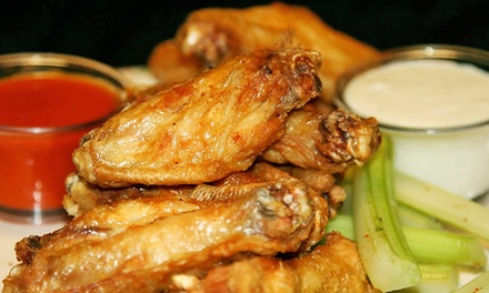 Pub Dinner Food at The Cage Bar & Grill (Up to 49%Off). Two Options Available.