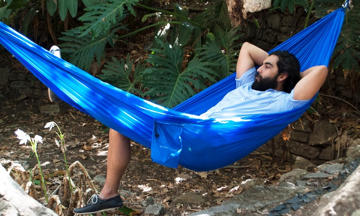 Large, Two-Person Parachute All-Weather Hammock