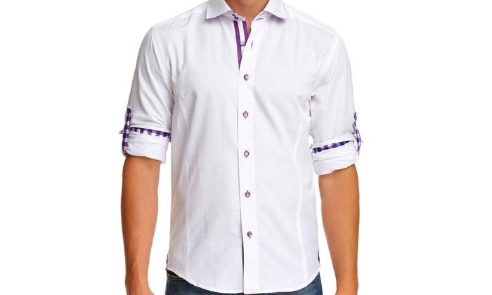 Bespoke Men's Long-sleeve Button-down Shirts (Size S)