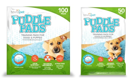 TevraPet Puddle Pads Housebreak Training Pads for Dogs and Puppies (50- or 100-Count) e2140932-1e39-11e8-b88f-5254801ee647