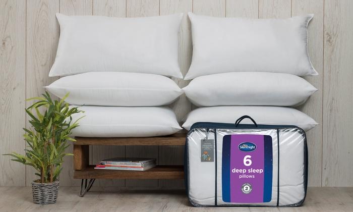 Six Silentnight Deep Sleep Pillows for £16.99