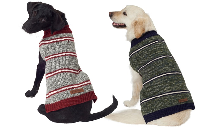 Up To 25 Off On Eddie Bauer Striped Dog Sweater Groupon Goods