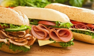 Eight-Inch Sandwich Combo Meals at Larry's Giant Subs (44% Off)
