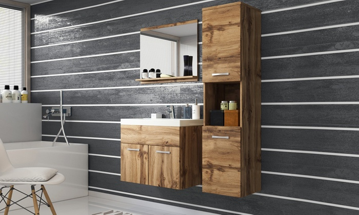 Bis zu 55% Rabatt Selsey Living Badezimmer-Möbelset | Groupon