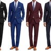 Braveman Classic Fit 2-Piece Suit with Dress Socks