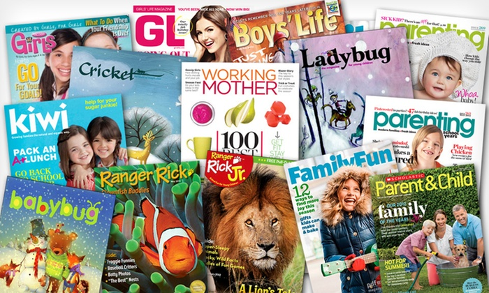 One- or Two-Year Magazine Subscription: One- or Two-Year Kids'-Magazine or Parenting-Magazine Subscription (Up to 70% Off). 14 Titles Available. Free Shipping.
