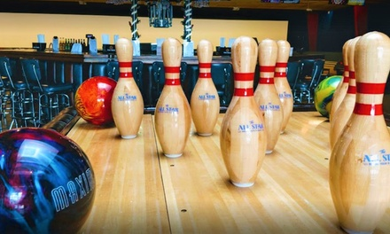 Billiards, Bowling, Arcade Games, and Food and Drinks at The All Star (Up to 56% Off). Three Options Available.