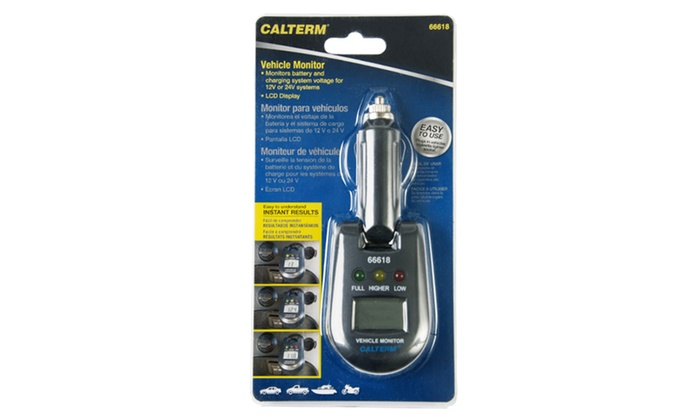 Battery And Charging System Monitor : Calterm vehicle battery and charging system monitor groupon