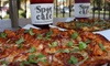 The Spot Cafe Long Beach - Belmont Shore: Two or Four Individual Pizzas and Two or Four Juices or Coffees at The Spot Cafe Long Beach (Up to 38% Off)