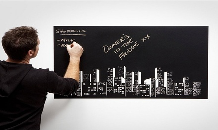 Chalkboard or Whiteboard Decal Wall Sticker with Five Coloured Chalks or Marker: One $15 or Two $25