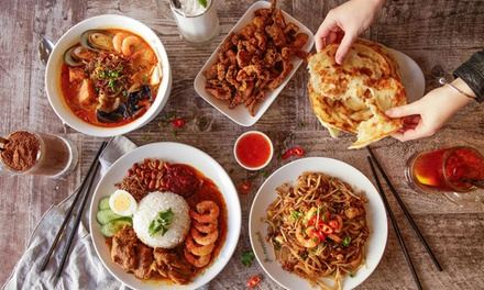 Malaysian Meal with Drinks for Two $25 or Four People $49 at PappaRich Up to $85.60 Value