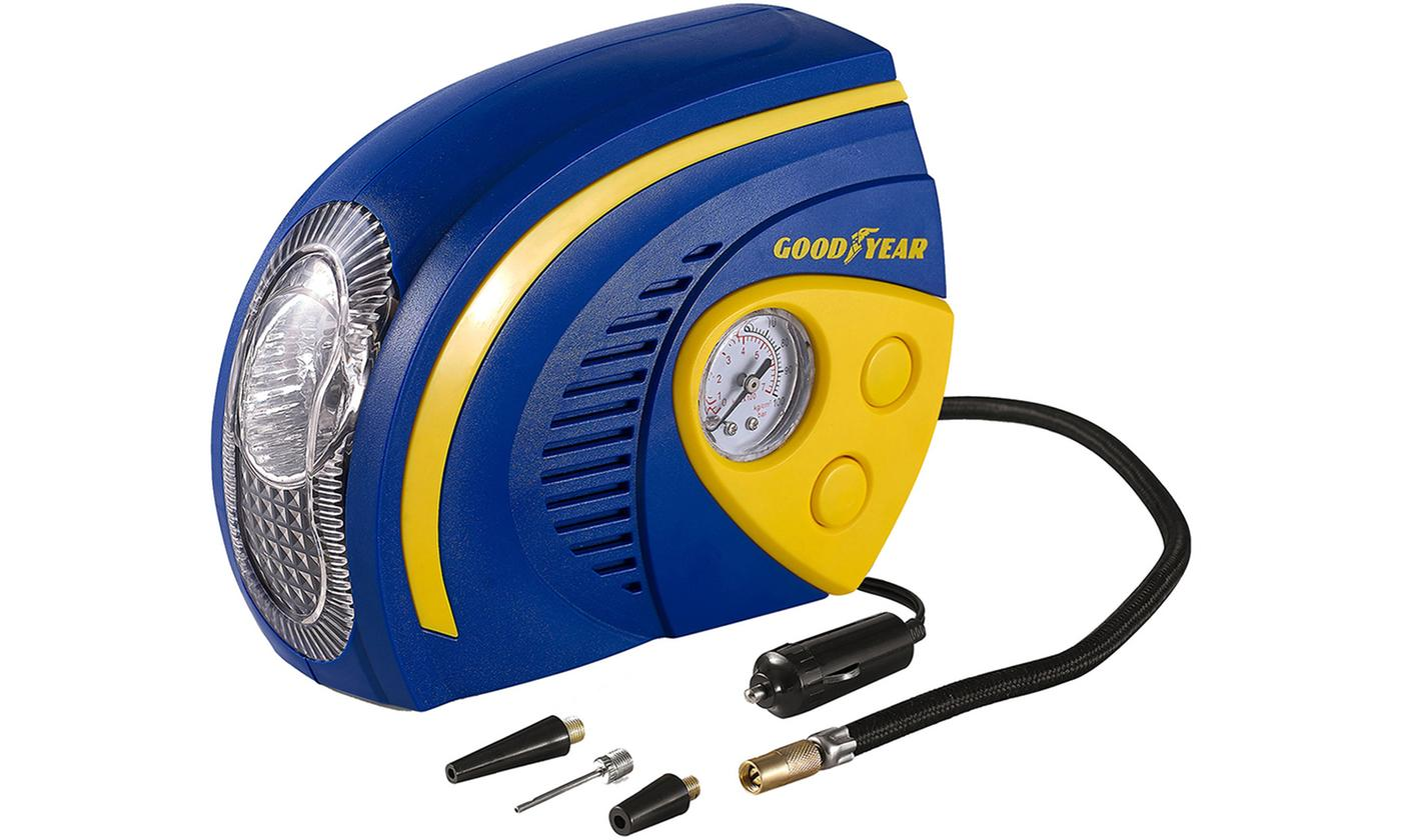 One or Two Goodyear Two-in-One Tyre Air Compressors with LED Light
