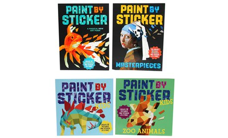 Kids' or Adult Paint by Sticker Books (2-Pack)