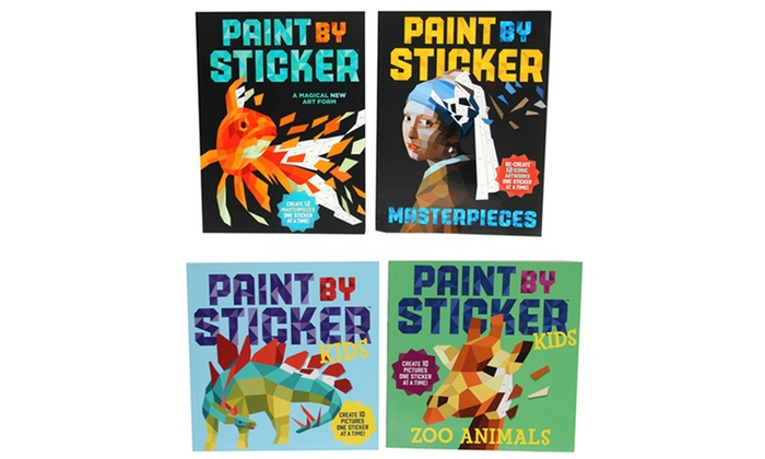 kids or adult paint by sticker books 2 pack kids - Kids Paint Book
