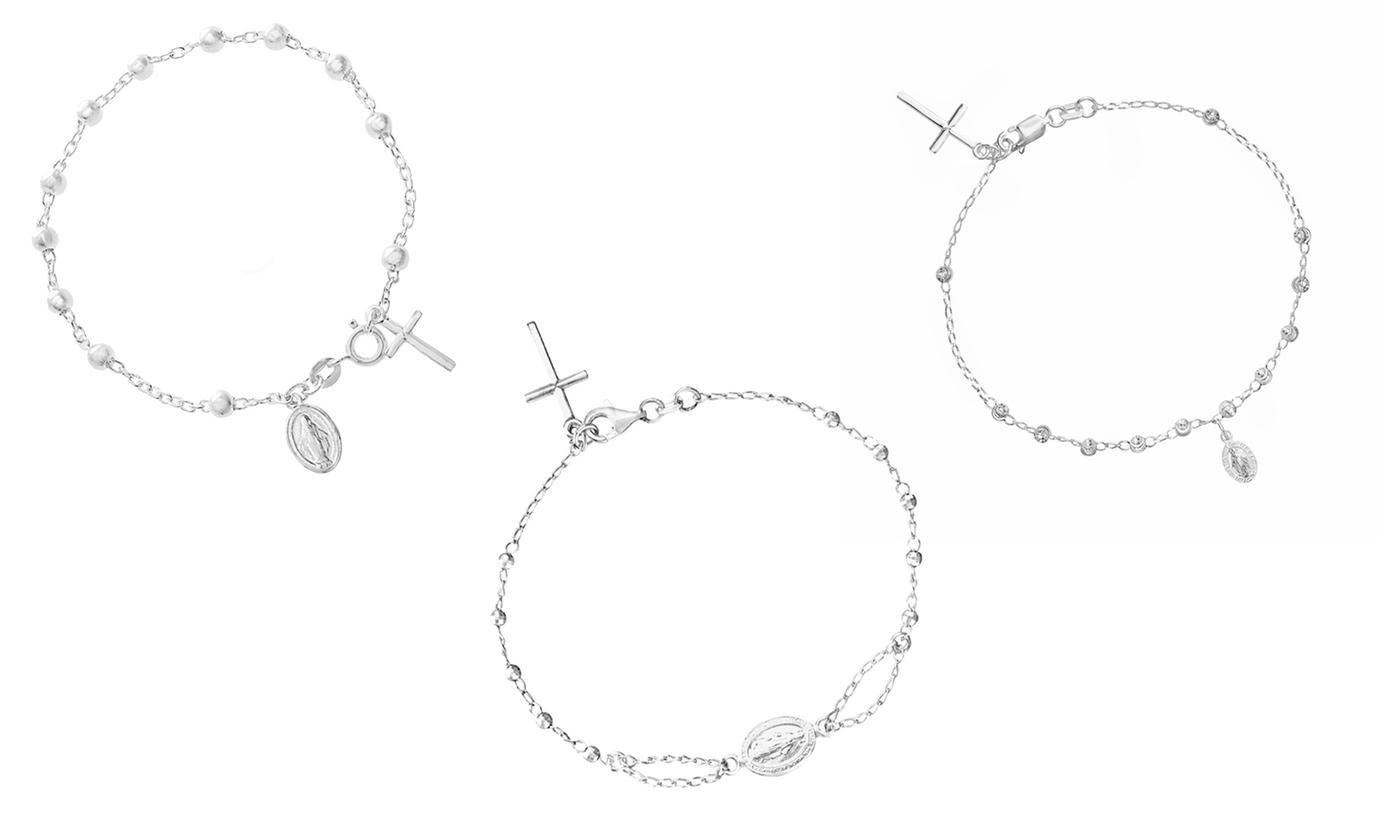 Nina & Grace Rosary Bracelets in Italian Sterling Silver