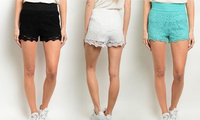 Women's 100% Cotton Spring Crochet Shorts (3-Pack): Women's 100% Cotton Spring Crochet Shorts (3-Pack)
