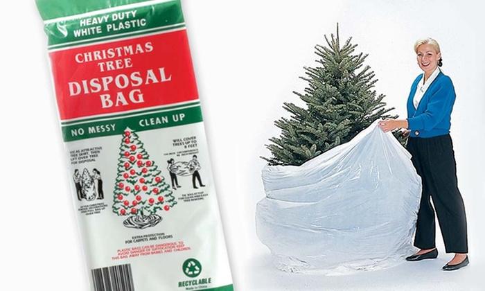 Christmas Tree Large Disposal Bag Groupon - Disposable Christmas Tree Bags - Image Home Garden And Tree Rtecx.Com