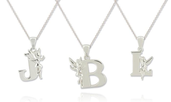Disney tinkerbell pendants groupon goods disney tinkerbell initial pendants in sterling silver aloadofball Gallery