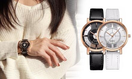 1 ou 2 montres pour femme Kara au cadran transparent