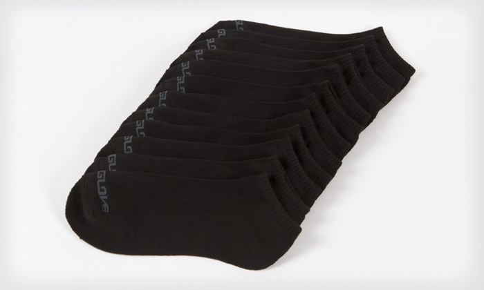 Body Glove Men's Socks: 12 Pairs of Body Glove Men's Crew-Cut or Low-Cut Banded Socks in Black or White (Up to Half Off). Free Shipping.
