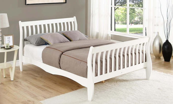 Penelope White Pine Double Bed with Optional Mattress