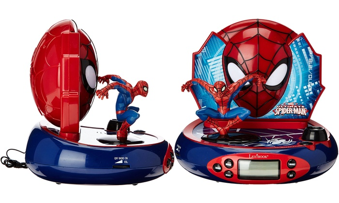 spiderman radio r veil projecteur groupon shopping. Black Bedroom Furniture Sets. Home Design Ideas