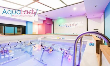 1 ou 3 séances daquabike de 45 min avec modelage minceur et bilan morphologique dès 12 € au centre Aqua Lady