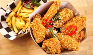 Kurczak w panierce, frytki i napój: wybrany zestaw od 14,99 zł w Pizzadilla & Kura Street Food (-35%)
