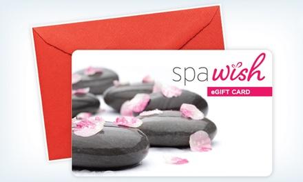SpaWish gift card