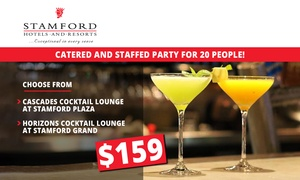 Stamford Hotels: $159 for Catered and Staffed Party for 20 People at Stamford Plaza or Grand Hotel (Up to $810 Value)