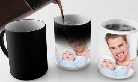 1 o 2 tazas de cerámica normales o mágicas con foto personalizada desde 3,99 € con Printer Pix