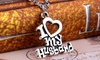 18K White Gold Plated I Love My Spouse Pendants: 18K White Gold Plated I Love My Spouse Pendants