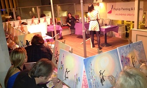 PopUp Painting and Events Ltd.: One Themed Social Painting Ticket with PopUp Painting (Up to 46% Off)